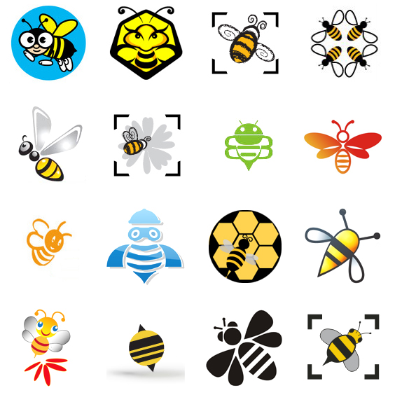 Fantastically Clever Bee Logos